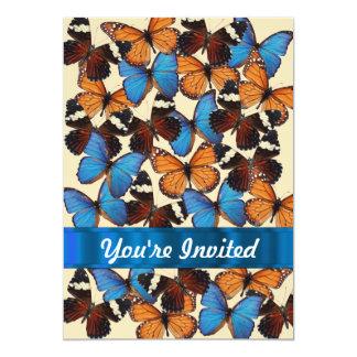 Colección de la mariposa invitacion personal