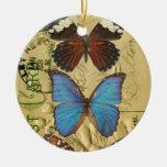Colección de la mariposa ornamento de reyes magos