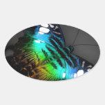 Colección de la mariposa pegatina de oval personalizadas