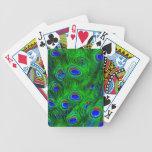 Colección de la moda de las plumas del pavo real baraja cartas de poker