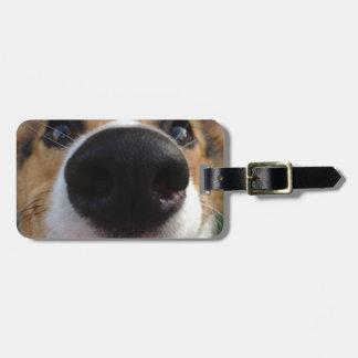Colección de la nariz de perro del Corgi Galés Etiquetas Maleta