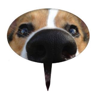Colección de la nariz de perro del Corgi Galés Figuras Para Tartas