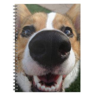 Colección de la nariz de perro del Corgi Galés Spiral Notebook