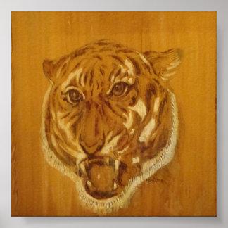 Colección de la naturaleza - retrato del tigre póster