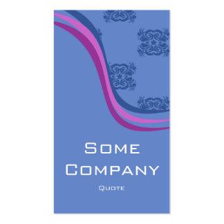 Colección de la onda del damasco (azul) tarjetas personales
