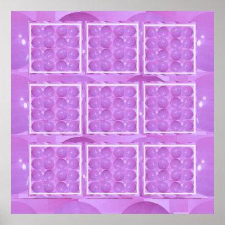 Colección de la perla - púrpura santa de la chispa póster