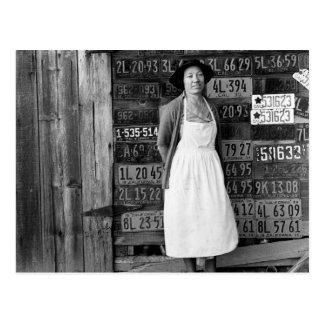 colección de la placa de los años 30 postales