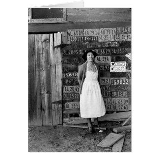 colección de la placa de los años 30 tarjeta de felicitación