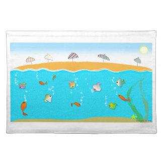 ¡Colección de la playa del verano, la playa! Mantel Individual