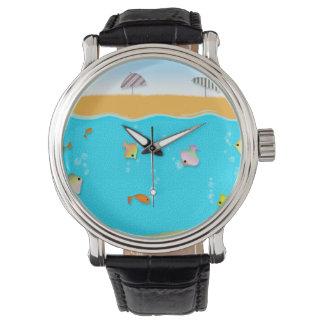 ¡Colección de la playa del verano, la playa! Reloj