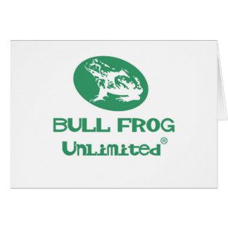 Colección de la rana de Bull Tarjeta De Felicitación