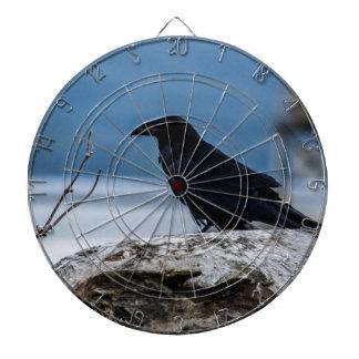 Colección de la reflexión del cuervo tabla dardos