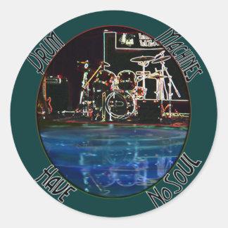 """Colección de la reflexión """"Larry del batería"""" Pegatina Redonda"""