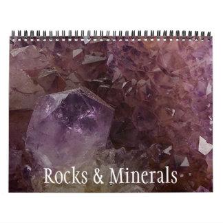 Colección de la roca y de la gema calendario de pared