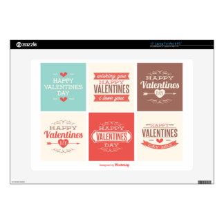 Colección de la tarjeta del día de San Valentín 38,1cm Portátil Calcomanías