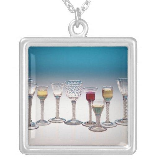 Colección de las copas de vino, c.1755-60 colgante cuadrado