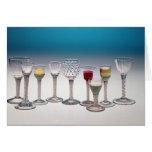 Colección de las copas de vino, c.1755-60 tarjeta de felicitación