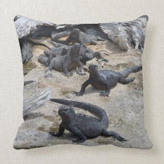 Colección de las Islas Galápagos - iguanas marinas Almohadas