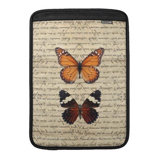 Colección de las mariposas del vintage fundas para macbook air
