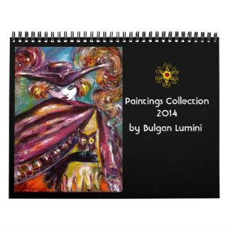 Colección de las pinturas de Bulgan Lumini - 2014 Calendarios