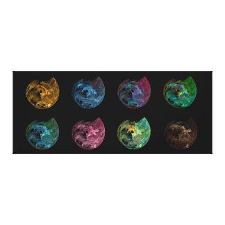 Colección de lona Galería-lista de 8 orbes del mar Impresión En Lienzo Estirada
