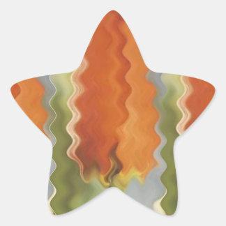 Colección de los brotes de flor de STBX Pegatina En Forma De Estrella