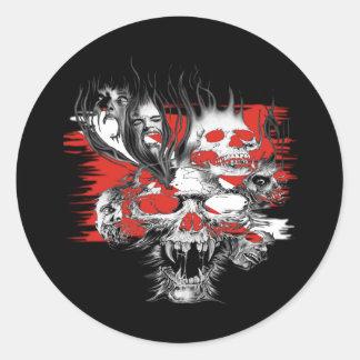 Colección de los buceadores del cráneo pegatina
