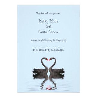 Colección de los cisnes de Romancing de la invitac