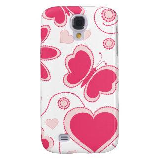Colección de los corazones y de las flores de Emma Funda Para Galaxy S4