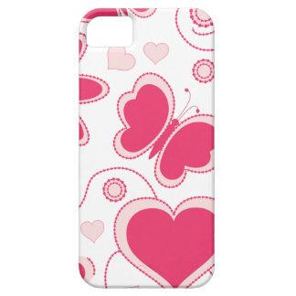 Colección de los corazones y de las flores de Emma iPhone 5 Funda