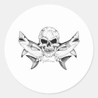 Colección de los cráneos/de los piratas por etiqueta redonda