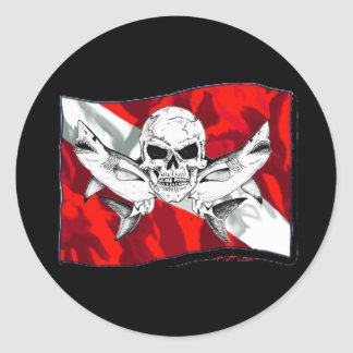 Colección de los cráneos por DiversDen Pegatinas Redondas