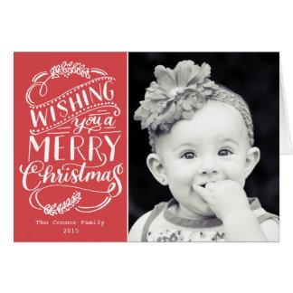 Colección de los deseos del navidad tarjeta pequeña