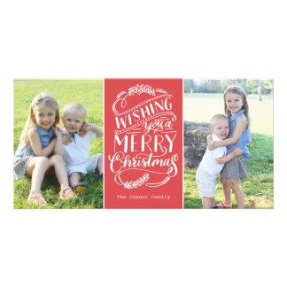 Colección de los deseos del navidad tarjetas con fotos personalizadas