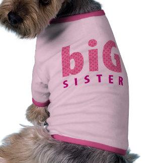 COLECCIÓN de los HERMANOS - hermana grande {rosa} Camiseta Con Mangas Para Perro