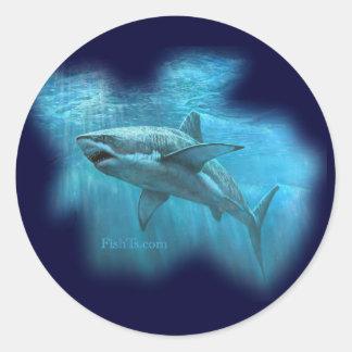 Colección de los tiburones por FishTs.com Pegatina Redonda