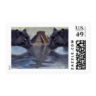 Colección de México de la pantera negra Timbre Postal