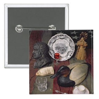 Colección de objetos, incluyendo una taza pin cuadrada 5 cm