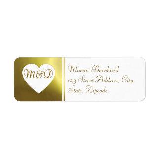Colección de oro blanca de la etiqueta de direcció