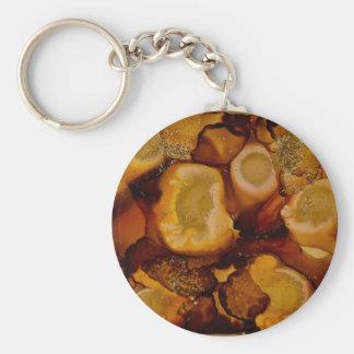 Colección de oro de Geode Llaveros Personalizados
