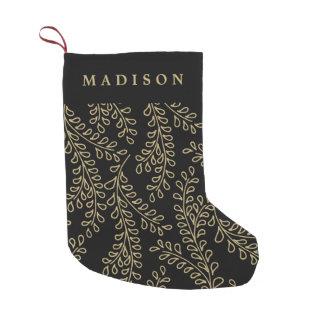 Colección de oro de las ramas calcetín navideño pequeño