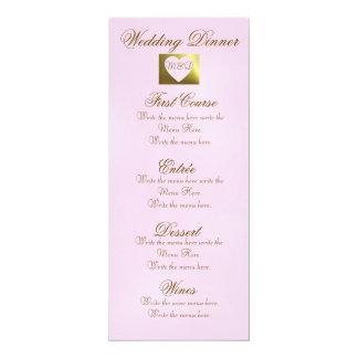 Colección de oro rosada del menú el | de la cena anuncios personalizados