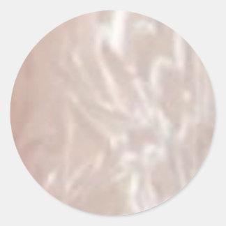 Colección de plata del colorete de la raya n de pegatina redonda