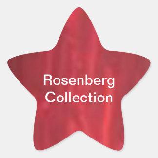 Colección de plata del colorete de la raya n de pegatina en forma de estrella