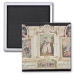Colección de seis miniaturas imán cuadrado