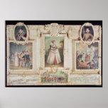 Colección de seis miniaturas póster