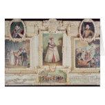 Colección de seis miniaturas tarjeta de felicitación