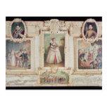 Colección de seis miniaturas tarjeta postal