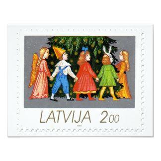 """Colección de sello del navidad de Letonia - 1 Invitación 4.25"""" X 5.5"""""""