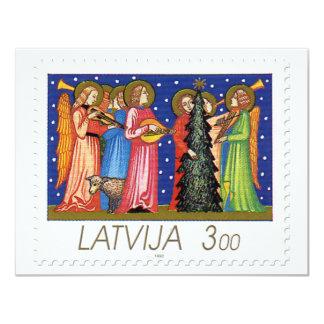 """Colección de sello del navidad de Letonia - 3 Invitación 4.25"""" X 5.5"""""""